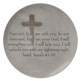 Isaiah 41:10 Inspirational Bible Verse Party Plates