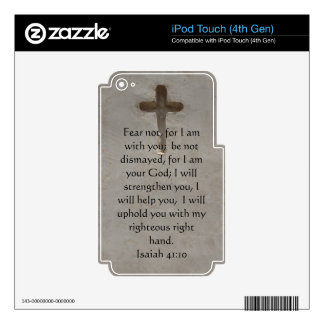 Isaiah 41:10 Inspirational Bible Verse Skin For iPod Touch 4G