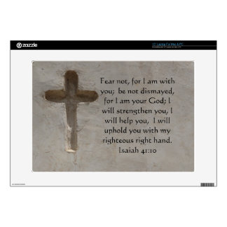 "Isaiah 41:10 Inspirational Bible Verse Skins For 15"" Laptops"