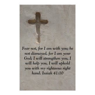 Isaiah 41:10 Inspirational Bible Verse Custom Stationery
