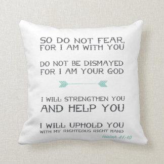 Isaiah 41:10 | Inspirational Bible Verse Throw Pillow