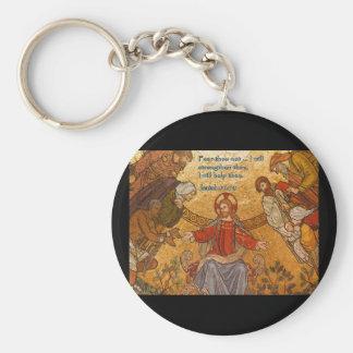 Isaiah 41:10 Jesus Mosaic Keychain