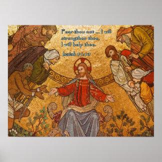 Isaiah 41:10 Jesus Mosaic Print