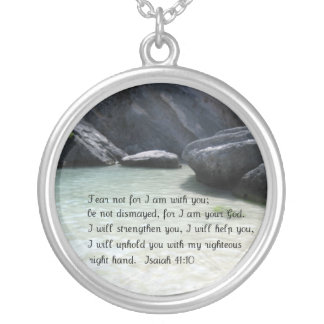 Isaiah 41:10 round pendant necklace