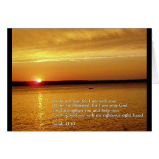 Isaiah 41:10  Sunset Greeting Card