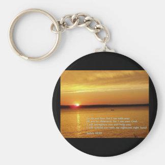 Isaiah 41:10  Sunset Keychain