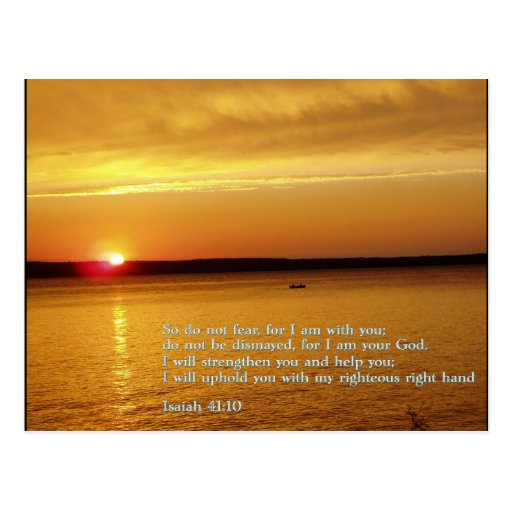 Isaiah 41:10  Sunset Post Cards