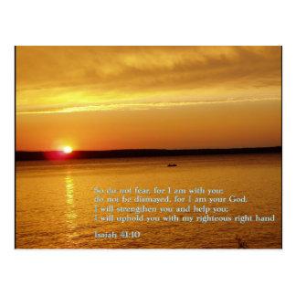 Isaiah 41:10  Sunset Postcard