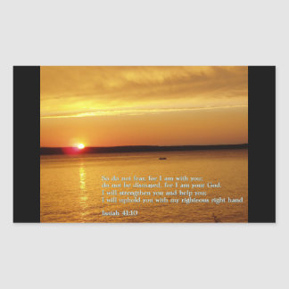Isaiah 41:10  Sunset Rectangular Sticker