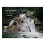 Isaiah 41:10 Waterfall Poster