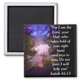 Isaiah 41:13 2 inch square magnet