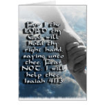 ISAIAH 41:13 FEAR NOT - I WILL HOLD YOUR HAND GREETING CARD