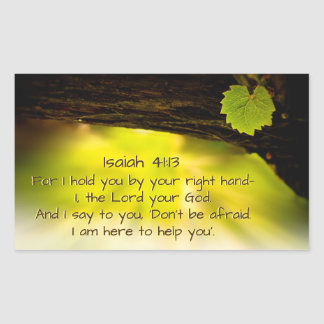 Isaiah 41:13  I hold you by your right hand— Bible Rectangular Sticker