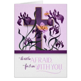 Isaiah 41 Religious Encouragement with Cross Iris Card