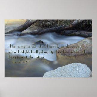 Isaiah 42:1 Poster print