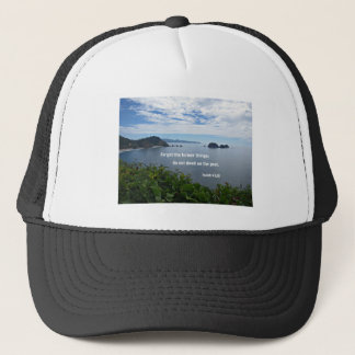 Isaiah 43:18 Forget the former things; do not... Trucker Hat