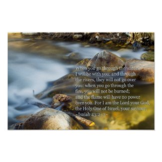 Isaiah 43:2-3 posters