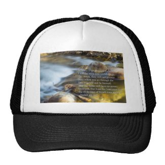 Isaiah 43:2- 3 trucker hat