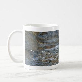 Isaiah 43:2 When you go through waters Classic White Coffee Mug