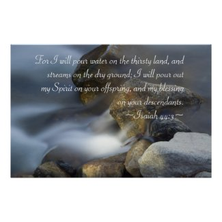Isaiah 44:3 Poster print