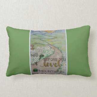 Isaiah 45:2 lumbar pillow
