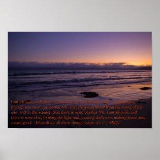 Isaiah 45:5-7 print