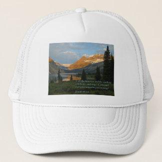 Isaiah 49:13 Mountain Sunset Trucker Hat