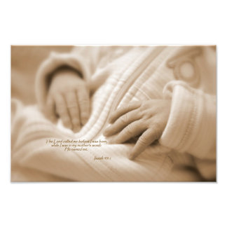 Isaiah 49:1 The Lord called me before I was born Photo Print