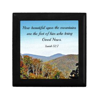 Isaiah 52:7 How beautiful upon the mountains.... Keepsake Box