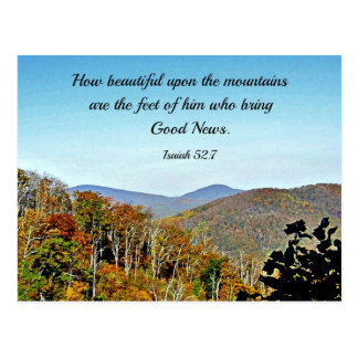 Isaiah 52:7 How beautiful upon the mountains.... Postcard