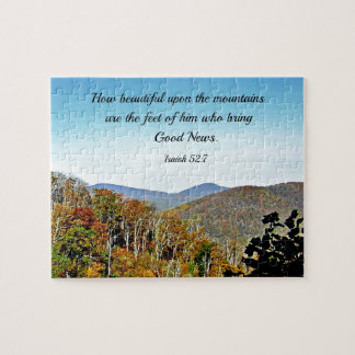 Isaiah 52:7 How beautiful upon the mountains.... Jigsaw Puzzle