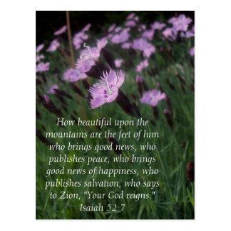 Isaiah 52:7 postcard