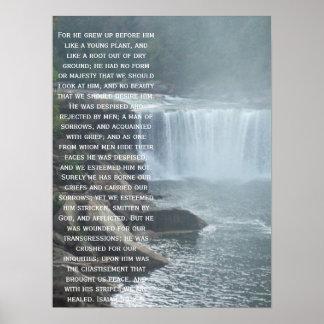 Isaiah 53:2-3 poster