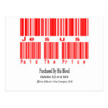 Isaiah 53:4-6 Design (Jesus Paid The Price) Postcard