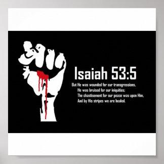 Isaiah 53:5 poster