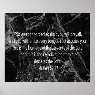 Isaiah 54:17 poster