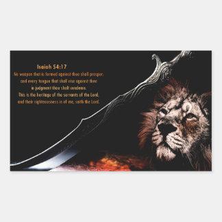 Isaiah 54:17 rectangular sticker