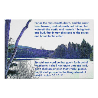 Isaiah 55:10,11 poster