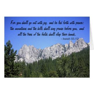 Isaiah 55:12 card