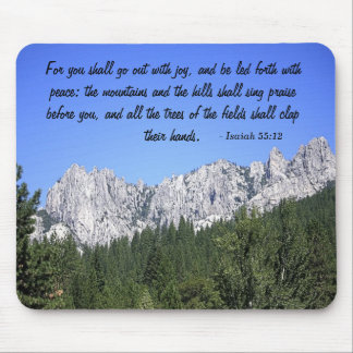Isaiah 55:12 mouse pad