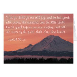 Isaiah 55:12 Mt. Rainier at Dawn Praying for You Card