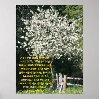 Isaiah 55:12 poster