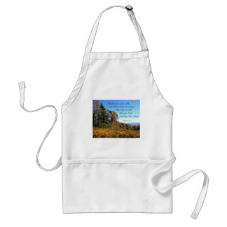 Isaiah 55:12 The mountains and the hills shall... Adult Apron