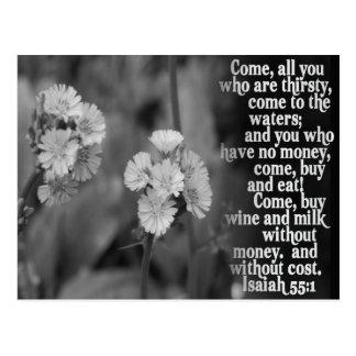 ISAIAH 55:1 BIBLE SCRIPTURE FAVORITE POST CARD