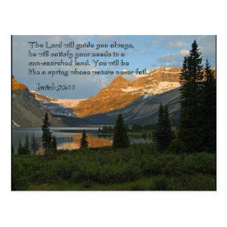 Isaiah 58:11 Mountain Sunset Postcard