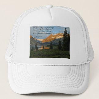 Isaiah 58:11 Mountain Sunset Trucker Hat