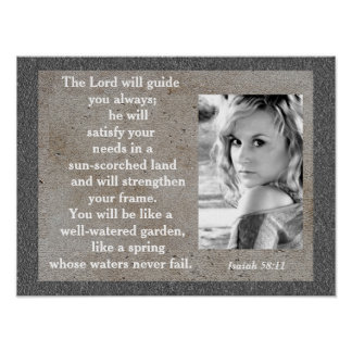 Isaiah 58:11 - poster