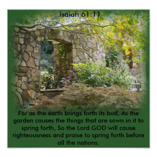 Isaiah 61:11 print
