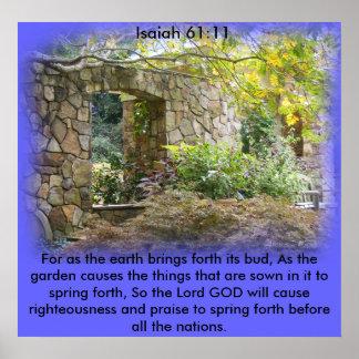 Isaiah 61:11 poster
