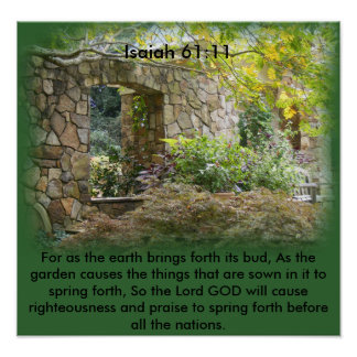 Isaiah 61:11 posters